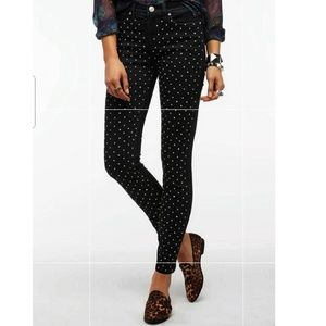 BDG High Rise Pearl Studded Cigarette ankle jeans